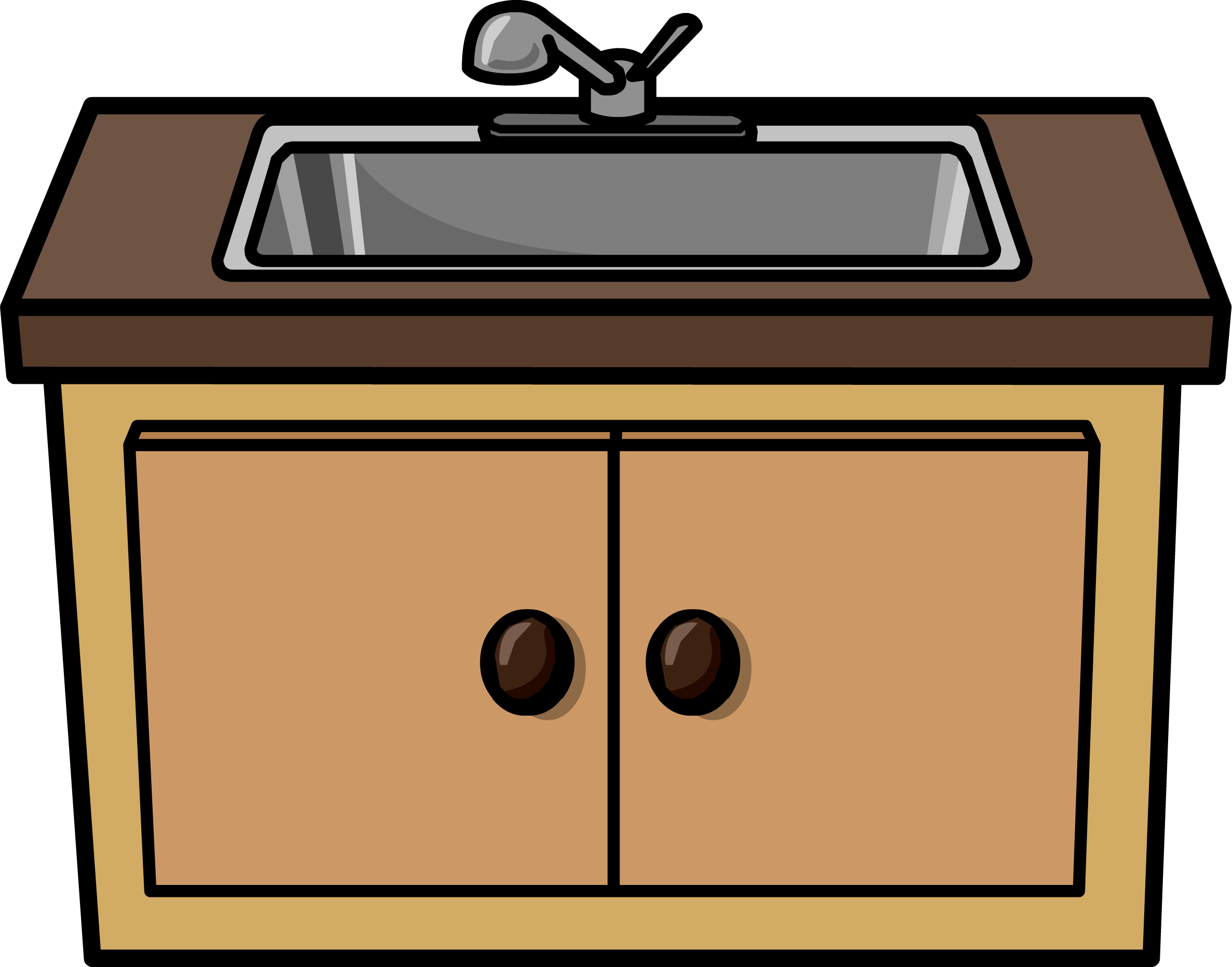 clip library library Black sink strainer interior. Kitchen counter clipart.