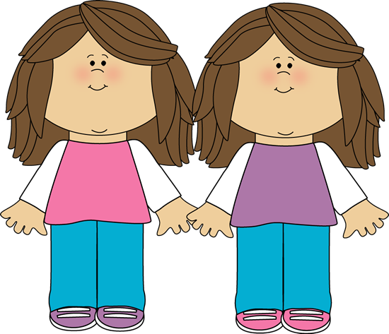 clip art library download Twin sisters clip art. Twins clipart