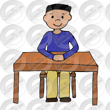 png black and white library Picture for classroom therapy. Sit clipart.