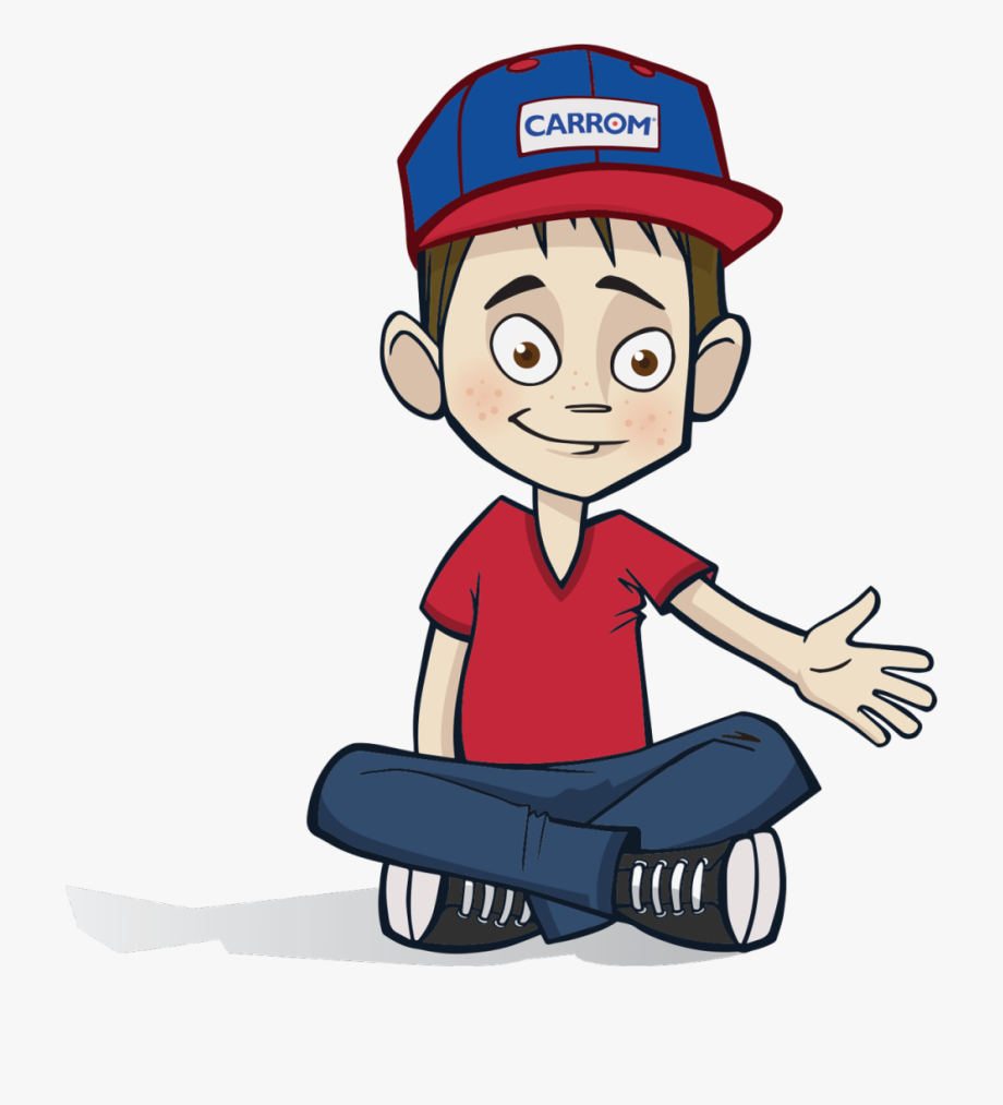 graphic black and white Sitting clipart. Carrom kid boy down