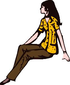 clip art Sitting clipart. Woman