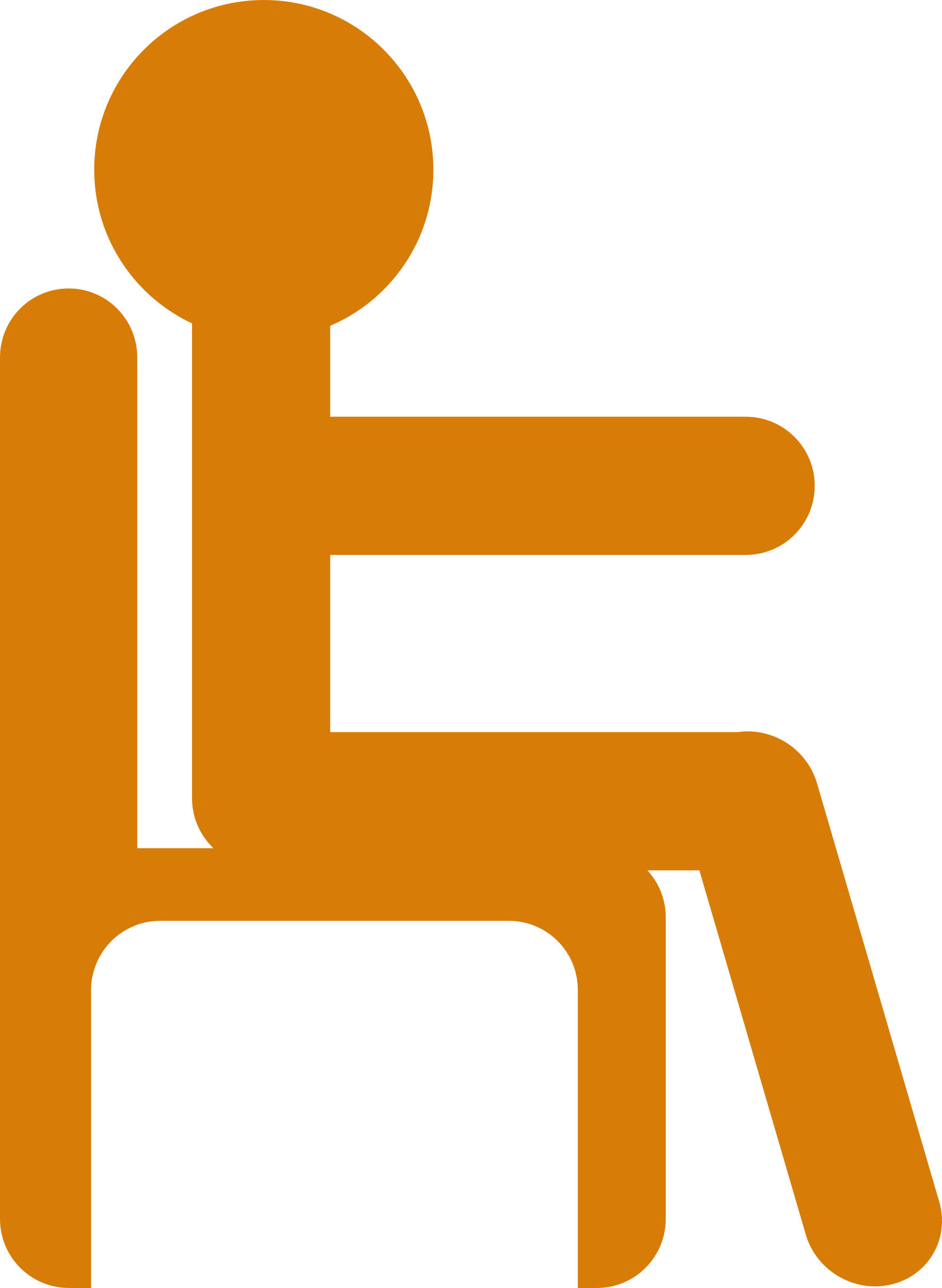 graphic freeuse library Man in chair big. Sitting clipart symbol