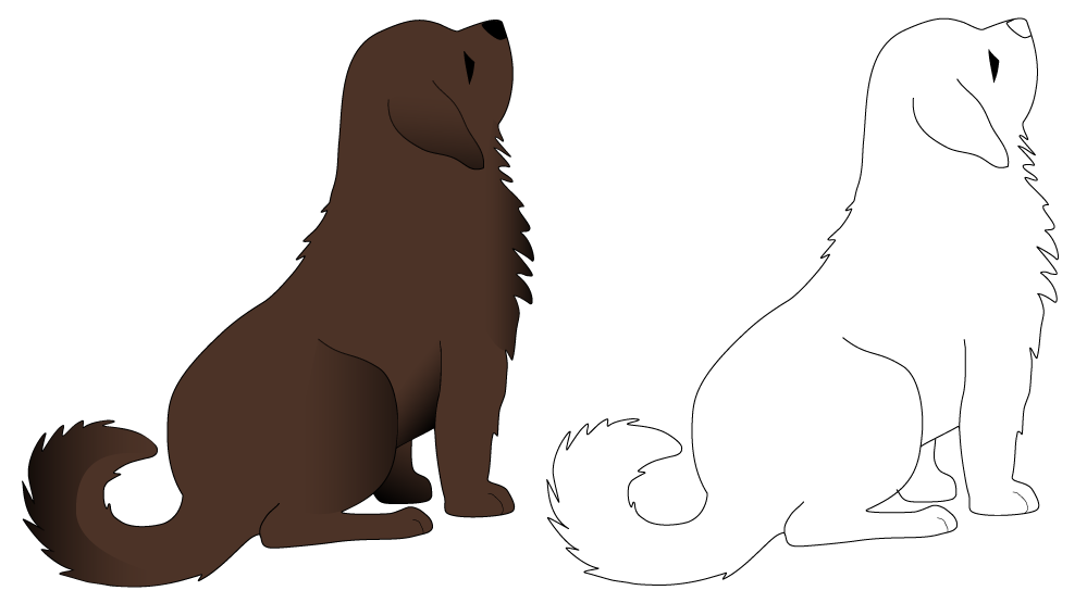 graphic library Sitting dog