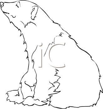 picture black and white stock Sitting polar bear clipart. Picture of a white