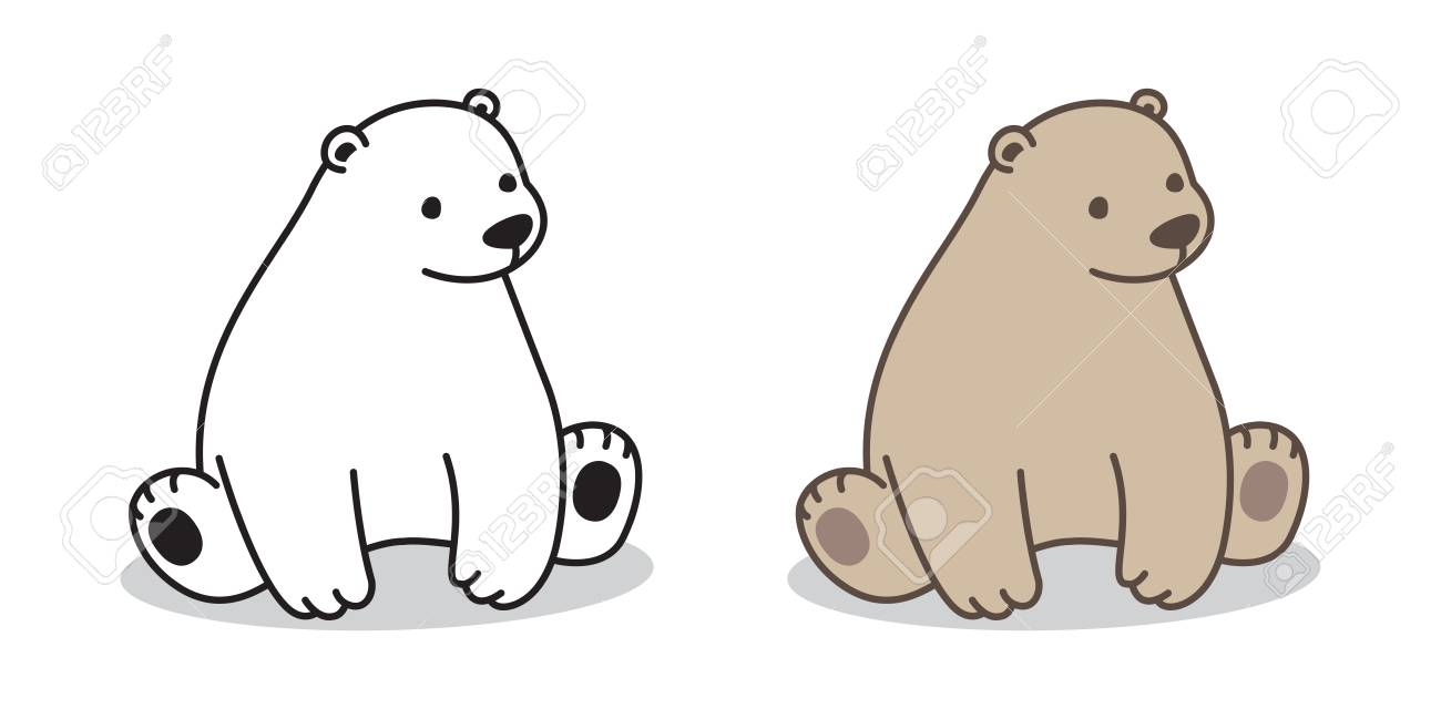 picture free library Portal . Sitting polar bear clipart