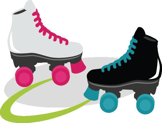 vector transparent library Roller Skate Clipart