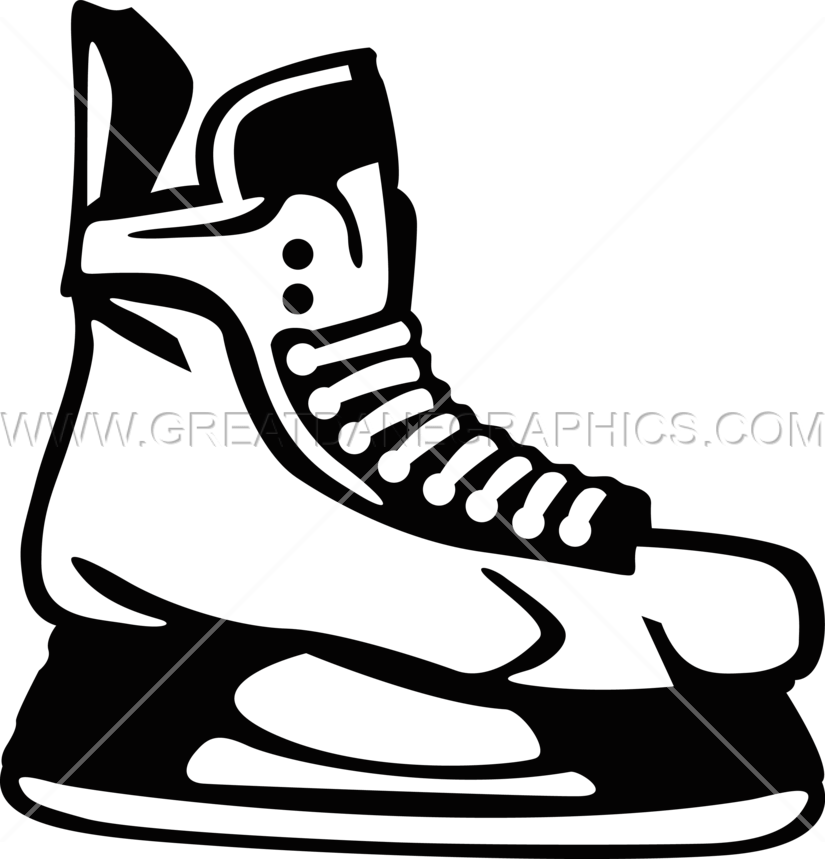 image free download Ice skate clipart black and white. Hockey skates production ready