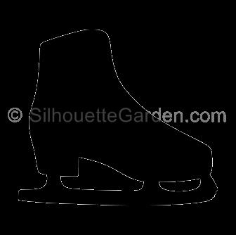 svg library Ice skate silhouette clip art