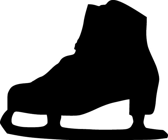 image black and white stock Ice skating clipart black and white. Imagen gratis en pixabay
