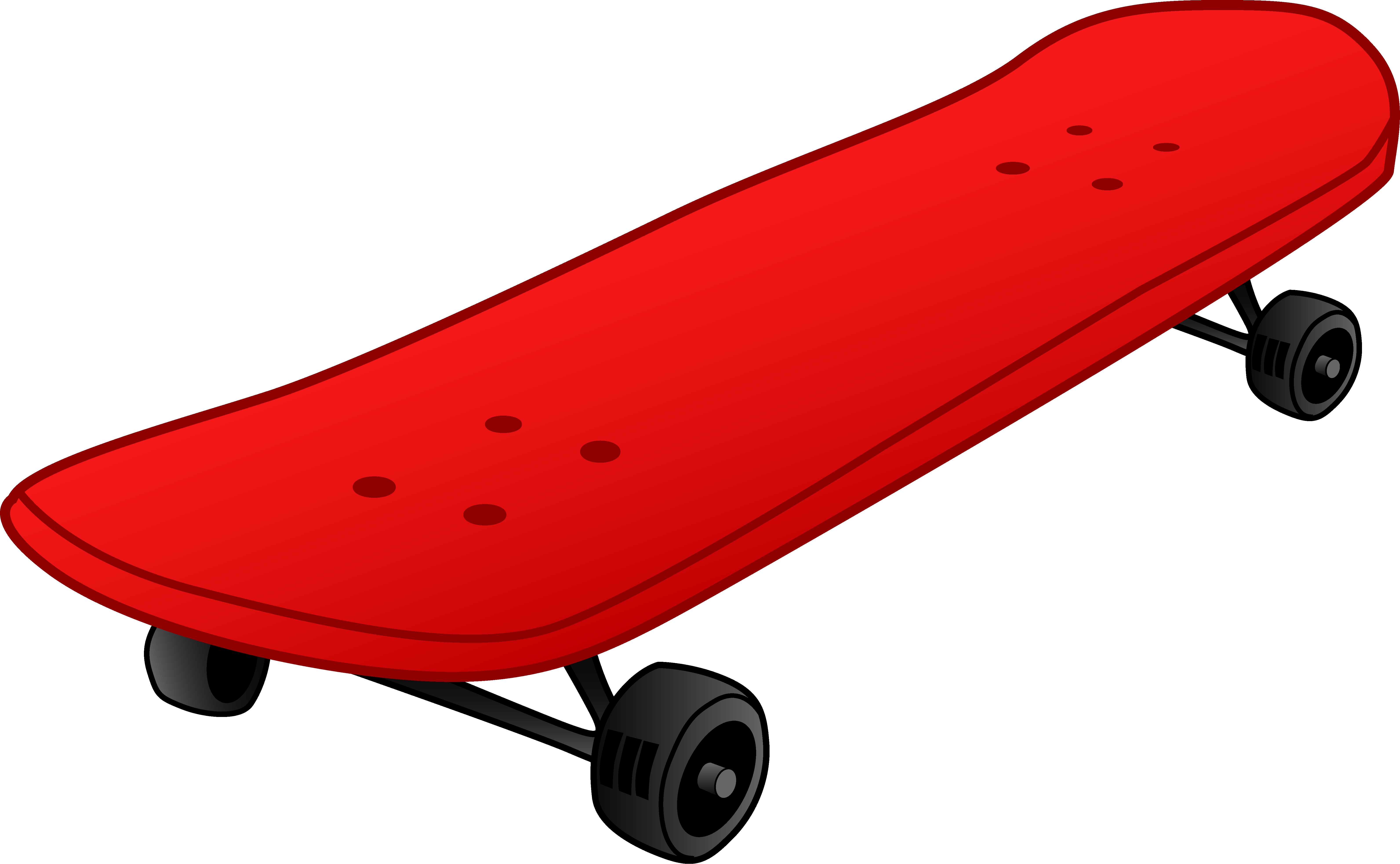 graphic black and white stock Red Skateboard Design