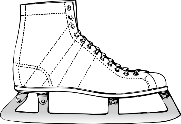 clip art library library Clip art at clker. Ice skate clipart black and white