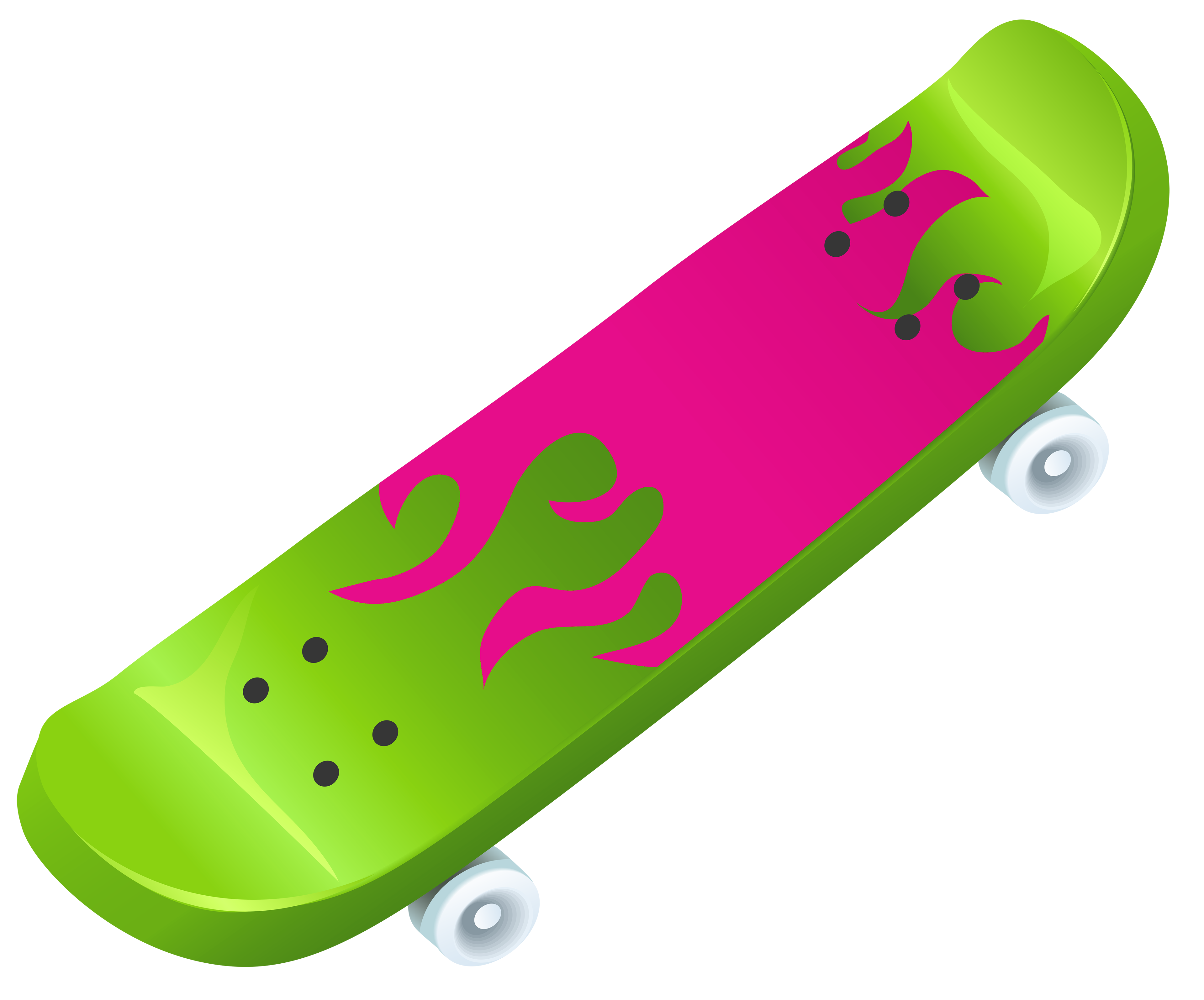 black and white download Skateboard PNG Vector Clipart