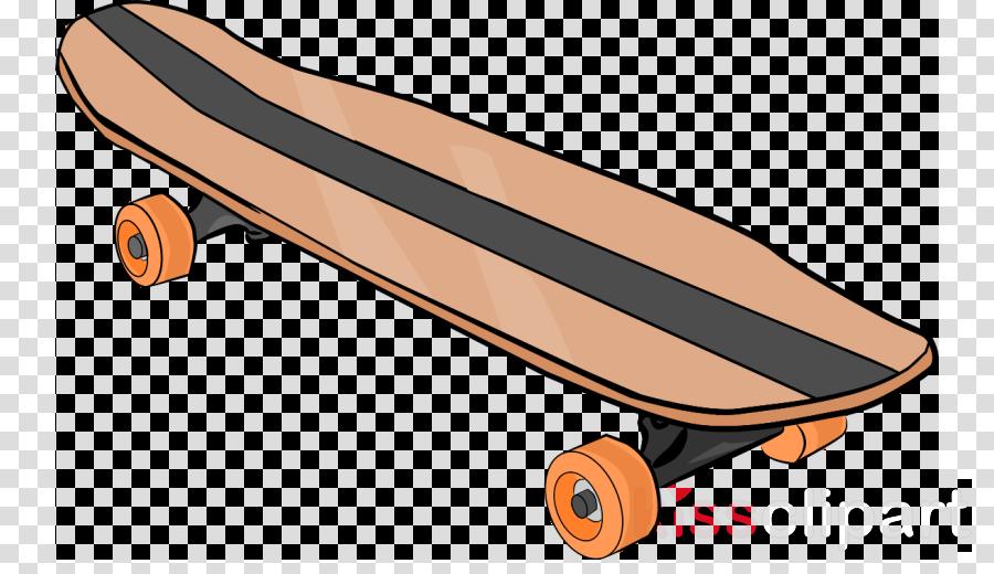 banner Skateboard clipart. Orange background skateboarding .
