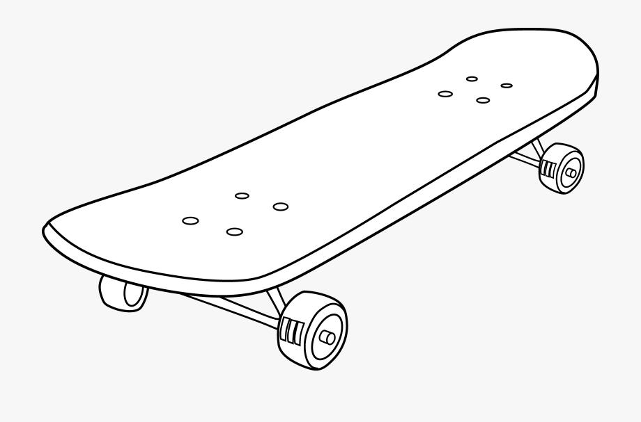 banner freeuse library Transparent white clip art. Skateboard clipart.