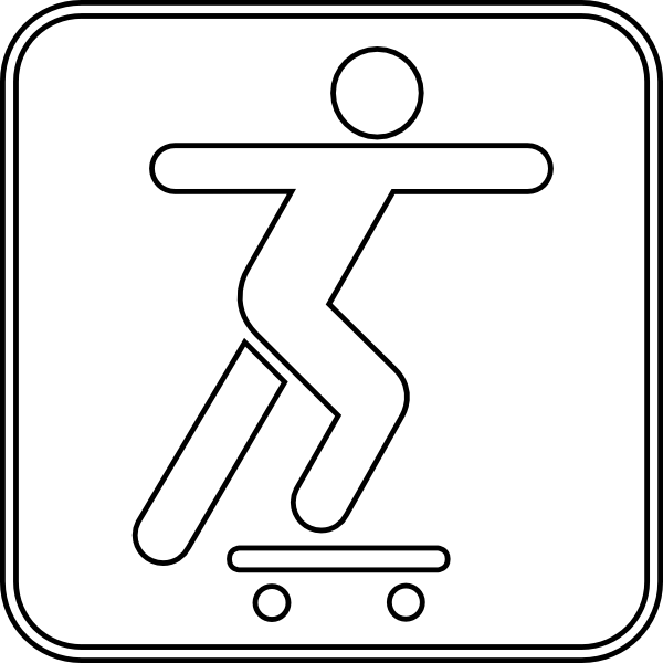 svg black and white library Skateboarding drawing. At getdrawings com free