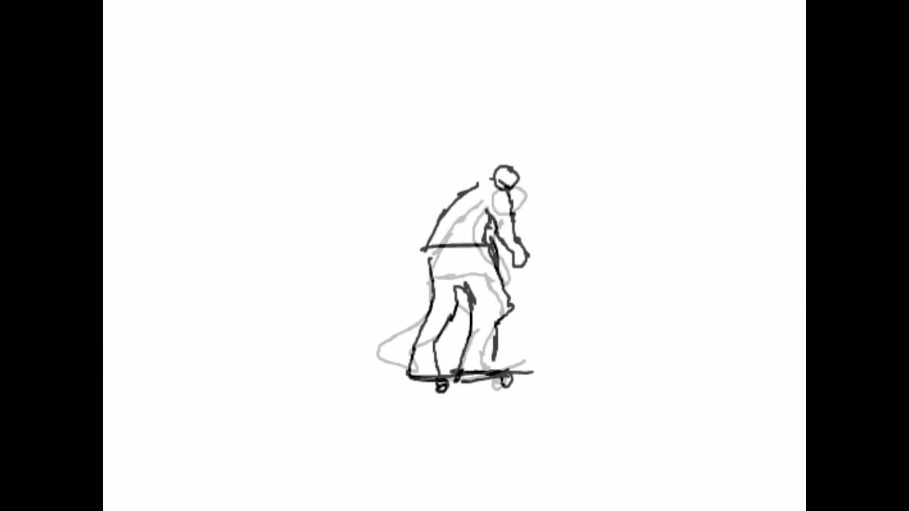 clipart free Skate frame by . Skateboarding drawing animation