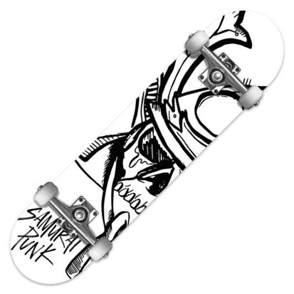 jpg royalty free library Samurai Punk Skateboard Deck