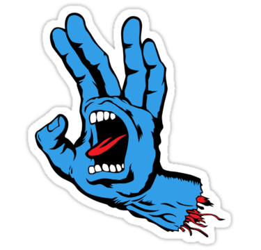 vector transparent library Spock Screaming Hand by neizan
