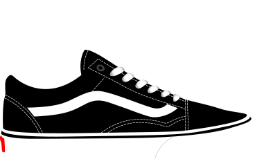 vector black and white library A History of Skate Shoes