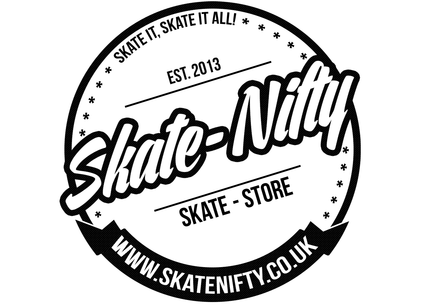 banner black and white stock Skate Nifty