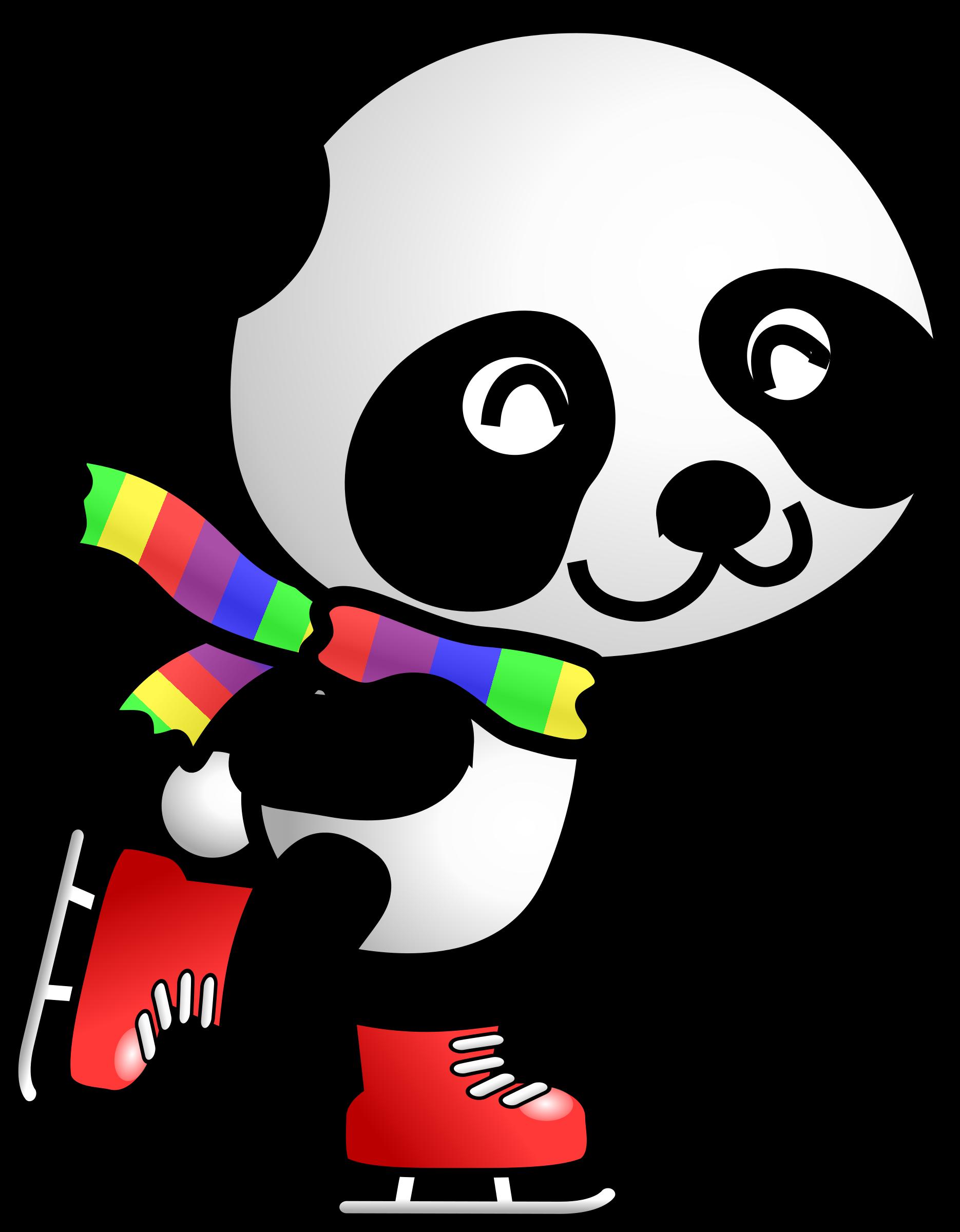 clip art royalty free library Skating clipart. Panda big image png.