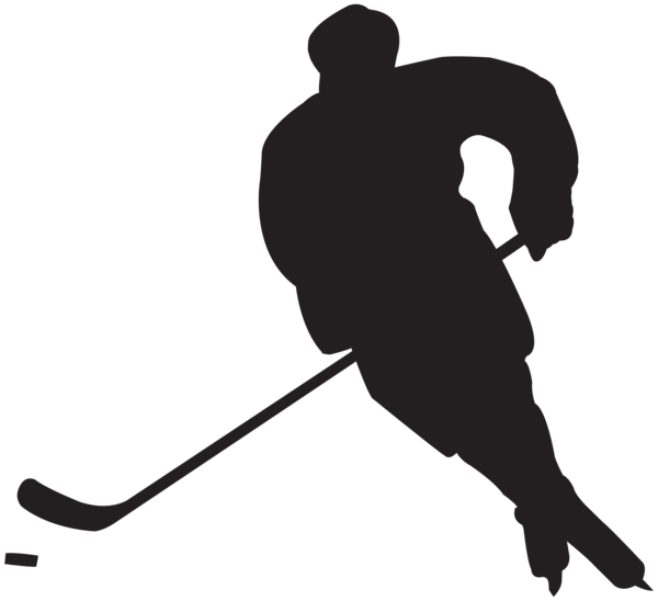 clipart freeuse download Hockey Player Silhouette PNG Clip Art