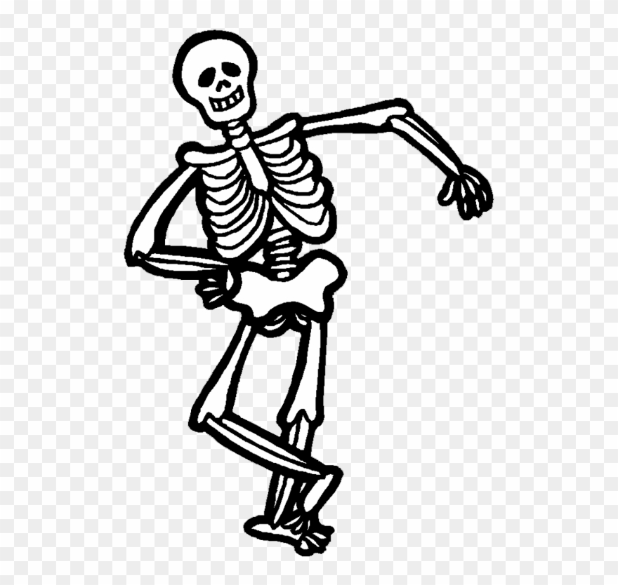 vector black and white stock Skeleton clipart. Halloween pictures .