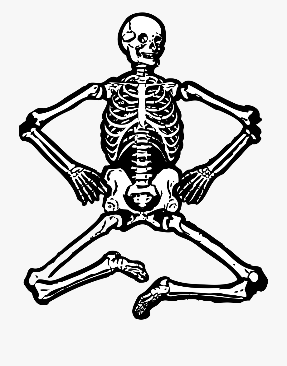 picture stock Skeleton clipart black and white. Clip art free images