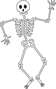 graphic black and white download Free download clip . Skeleton clipart black and white