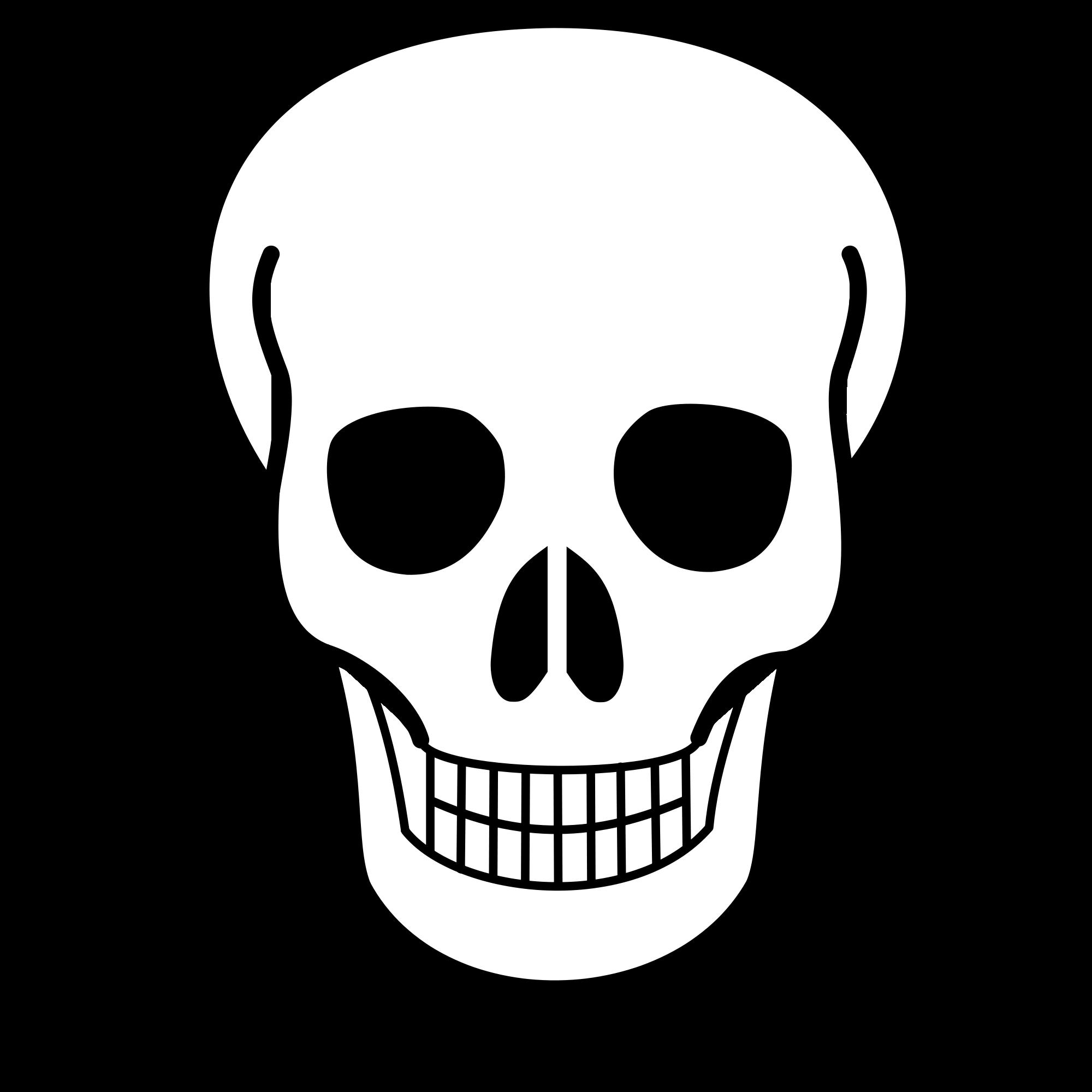 banner black and white download File skull icon svg. Bones vector simple