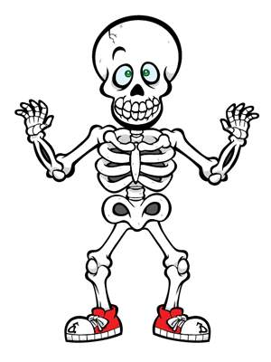 image black and white Clip art free images. Skeleton clipart for kids.