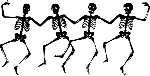 image black and white stock Funny skeleton clip art. Bones vector simple