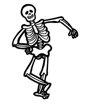 jpg black and white library Skeleton clipart. Free cliparts download clip.