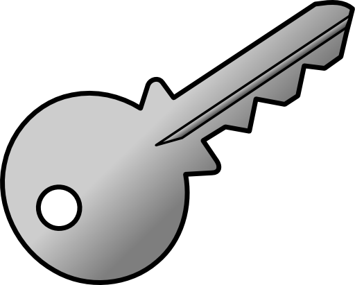 svg royalty free stock Skeleton key clipart outline. Grey shaded i royalty