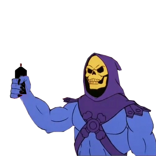 clipart freeuse library Skeletor was here spray
