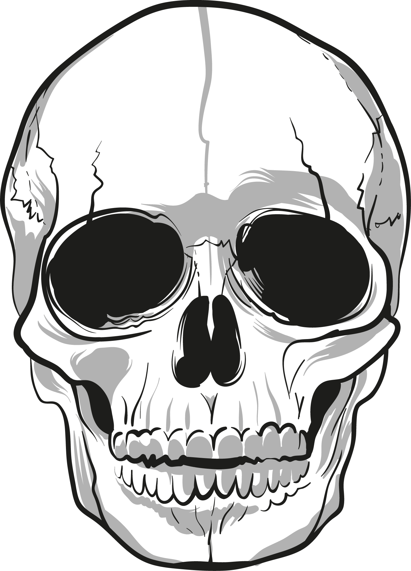 picture black and white library Skulls PNG Image