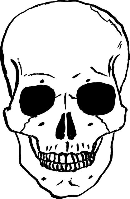 clip free stock dj drawing skeleton #93403694