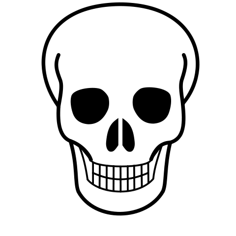png black and white download Skeleton head at getdrawings. Bronco drawing skull