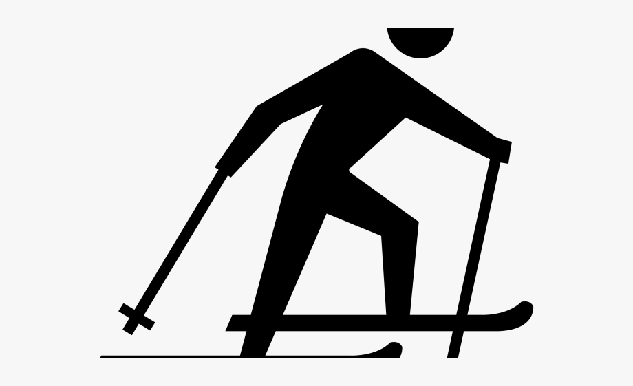 clipart transparent stock Ski clipart. Skiing nordic cross country.
