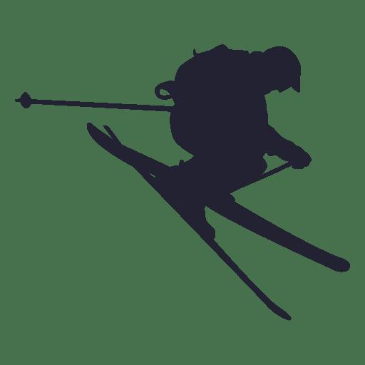 jpg stock Ski vector. Silhouette at getdrawings com.