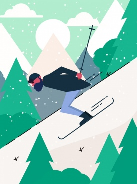 png Ski vector. Free download for commercial.