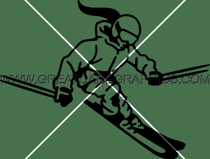 svg freeuse Ski Clipart female skier