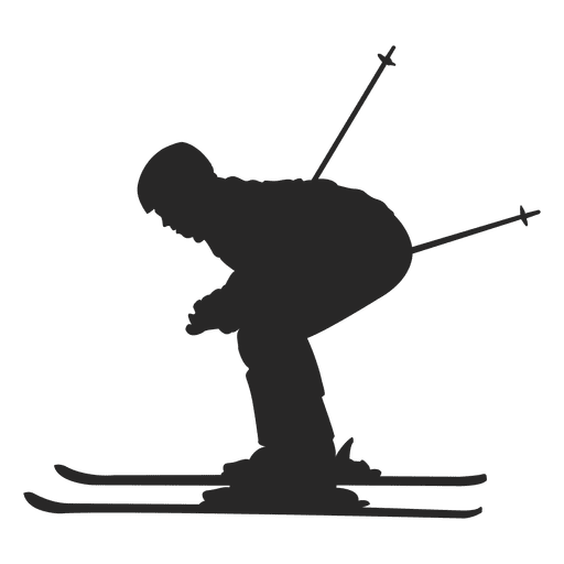 clip royalty free Skiing silhouette transparent png. Ski vector.
