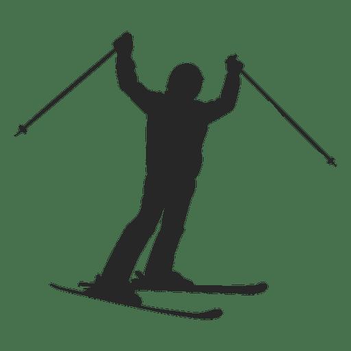 graphic download Silhouette at getdrawings com. Ski vector.