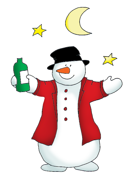 vector royalty free stock Snowman clipart drinking