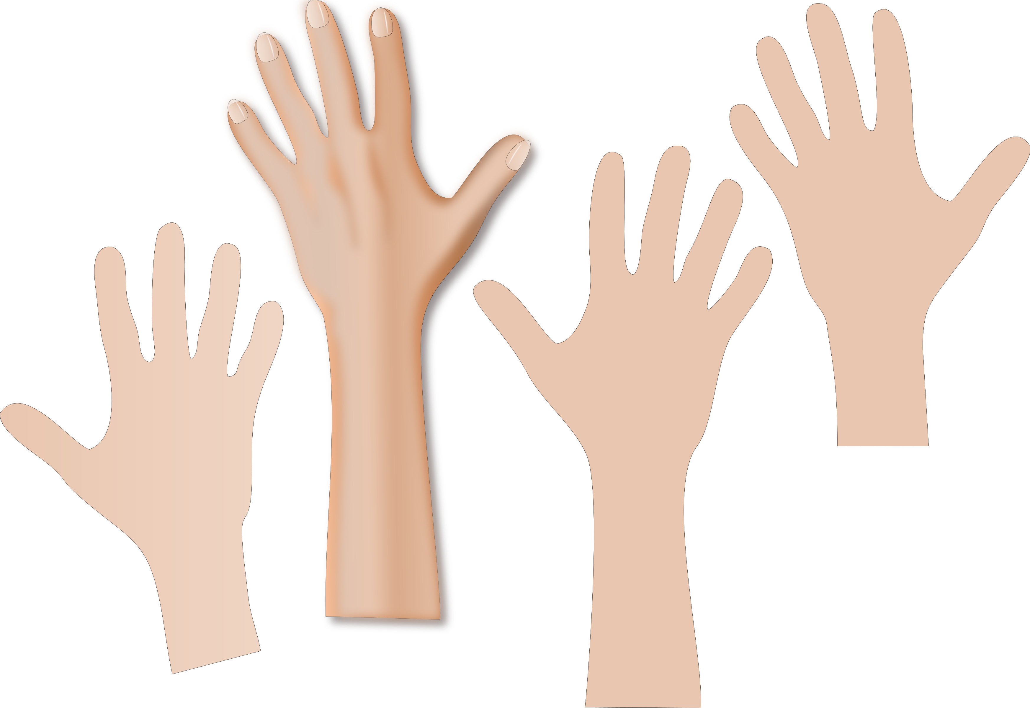 jpg library library Hands reaching with panda. Skin clipart.