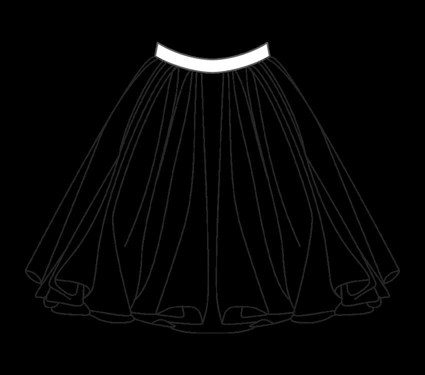 transparent Skirt Drawing at GetDrawings