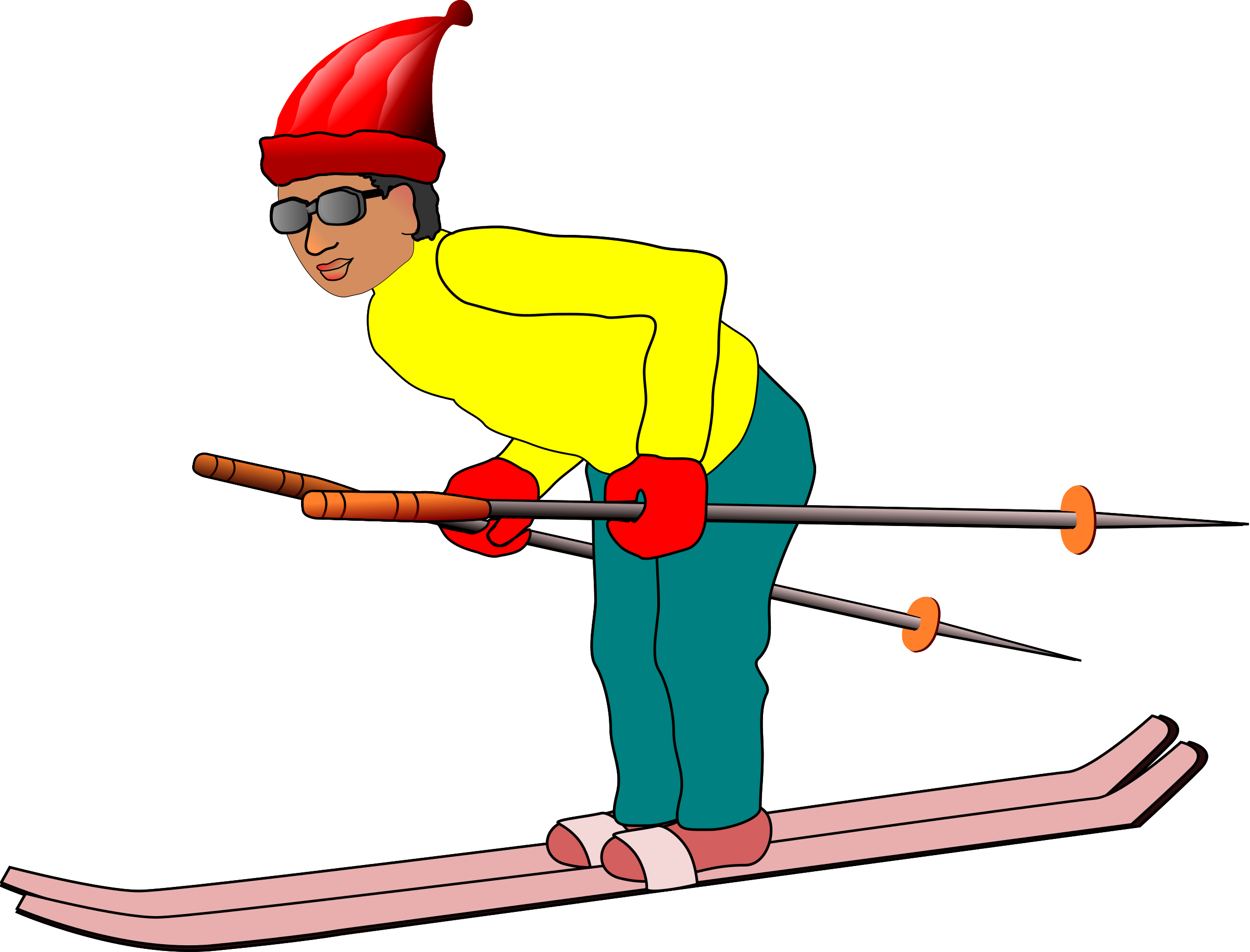 clip art transparent Boy clipart skiing. Ski man