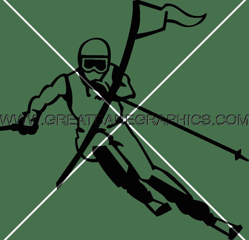 transparent Skier Drawing at GetDrawings