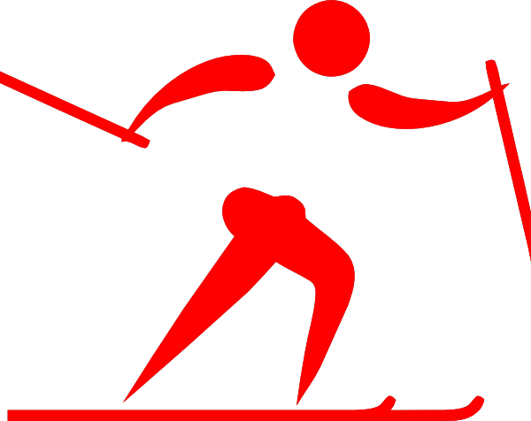 clip art Cross country arrow clipart. Pictogram ski red clip.
